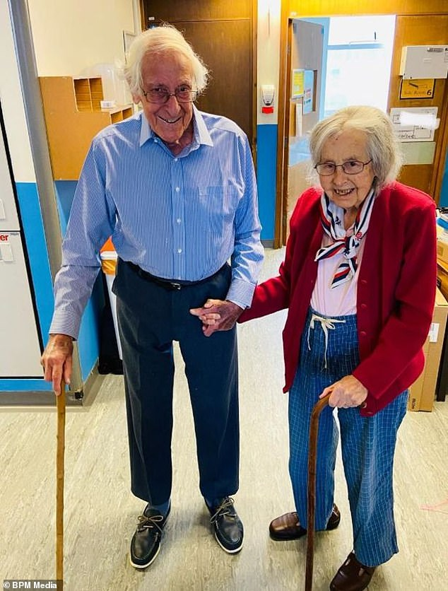Michael and Gillian England, 91 and 88 respectively, were discharged from Leicester Royal Infirmary on July 17 after spending three weeks being treated for coronavirus