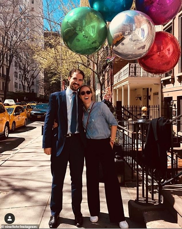 The New York City-based hedge fund analyst (pictured with his partner on Valentine