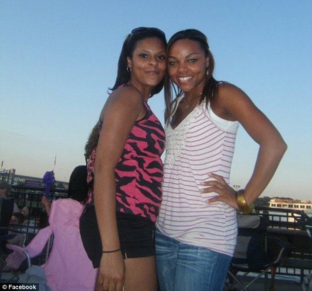 Happier times: Sisters Shaneah (pictured left) and Shayanna Jenkins (right) pictured in 2011. The Aaron Hernandez murder trial has left them estranged