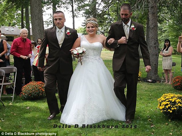 Dads to the rescue: Two weeks before the wedding, the 21-year-old had called her dad in tears because she wasn