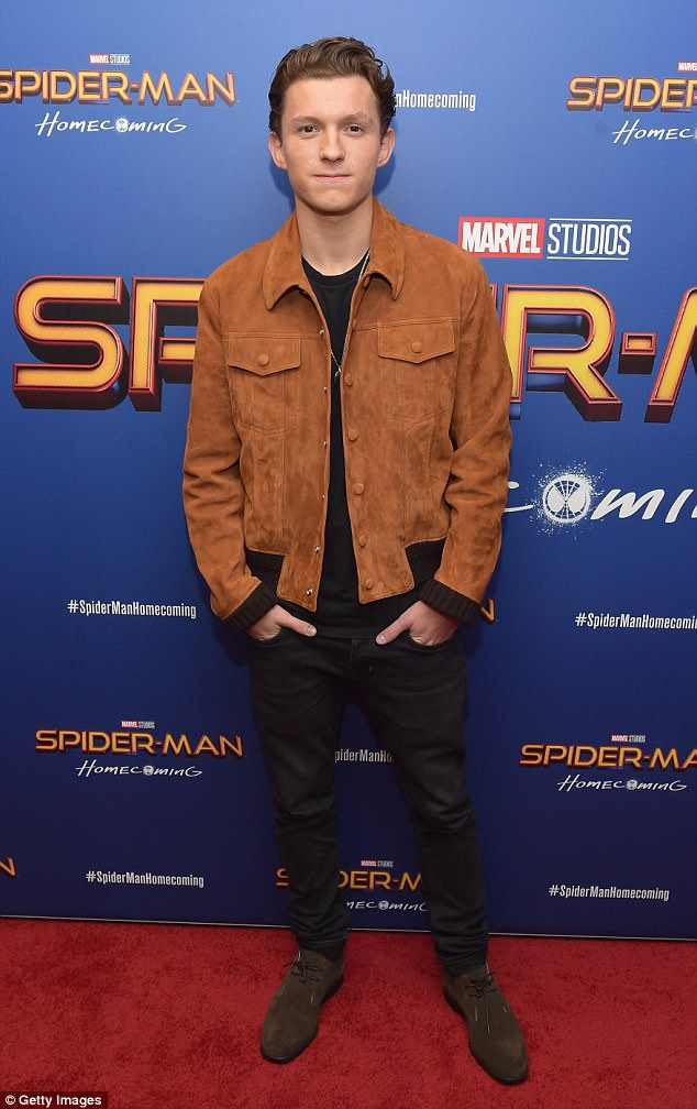 Spider-Man in the house! Tom Holland, 21, attended a screening of his film Spider-Man: Homecoming in New York City on Monday