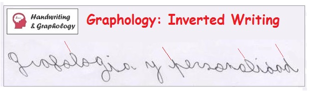 Graphology: Meaning of Slanted writing and inverted-writing