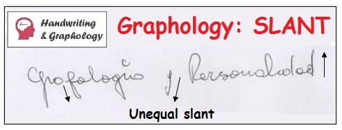 Graphology Slanted handwriting and Unequal writing