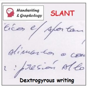 Meaning of slanted handwriting: Dextrogyrous