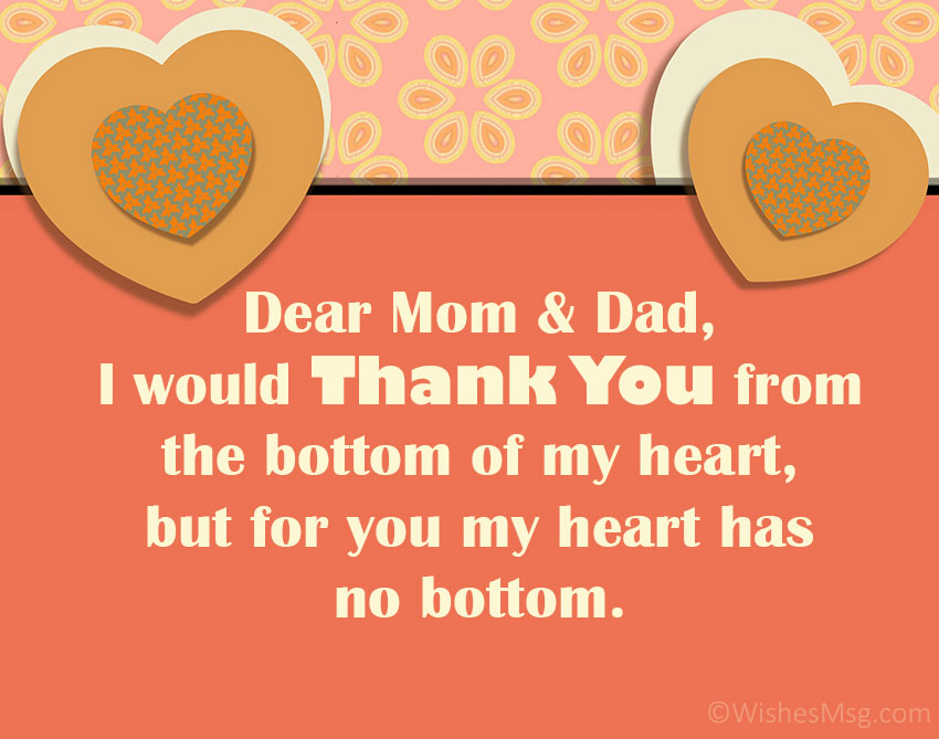 Thank You Card for Mom and Dad